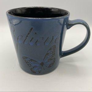 Pfaltzgraff blue butterfly coffee Mug
